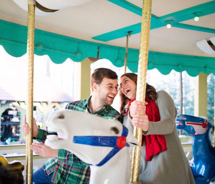 Deanna & Donald | Christmas Town Busch Gardens Engagement | Williamsburg Wedding Photographer