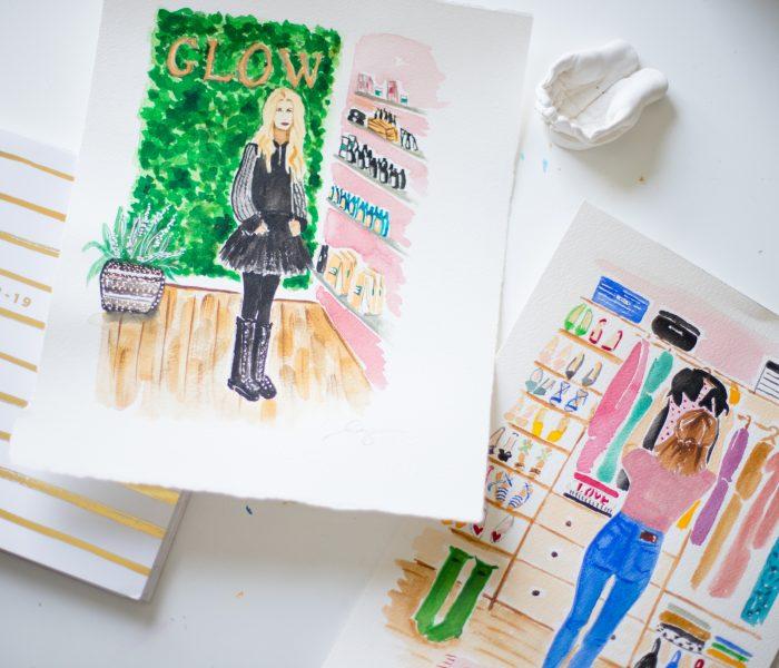 Hazel & Grace Illustrations | Virginia Beach Branding Photographer
