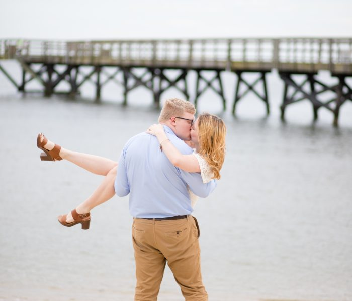 Anya & Issac | Yorktown Beach Couples Session | Yorktown Wedding Photographer