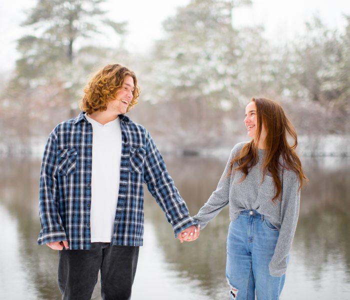 Katie & Chris | Snowy Couples Session | Powhatan Wedding Photographer
