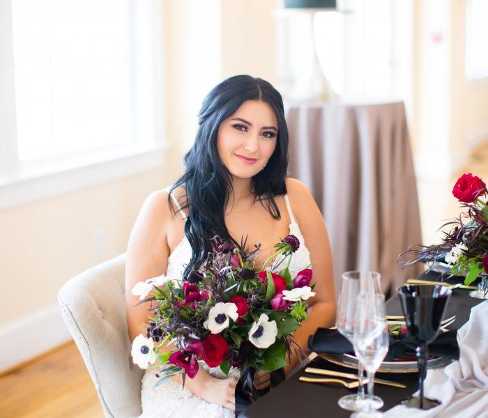 Elegant Winter Styled Shoot | Woman's Club of Portsmouth | Portsmouth Wedding Photographer