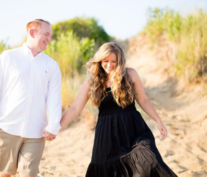 Sara & Patrick   East Beach Engagement Session   Norfolk Wedding Photographer